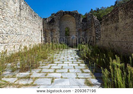 Ancient ruins of Saint Barbara church in town of Melnik, Blagoevgrad region, Bulgaria