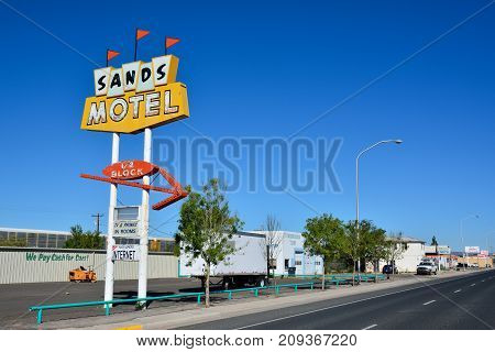 Sands Motel And Sign Historic Route 66.