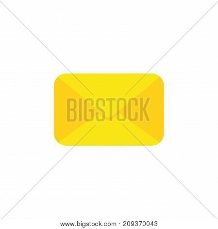 Flat Design Style Vector Of Closed Envelope