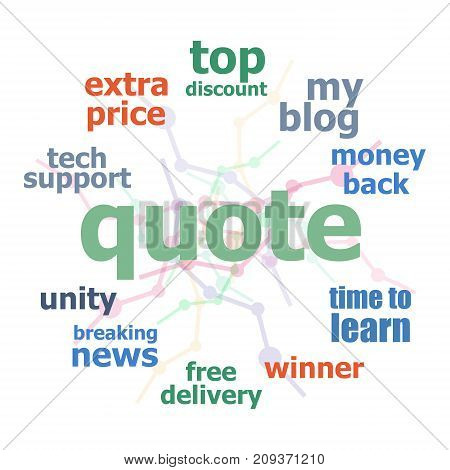 Text Quote. Business concept. Word business collage