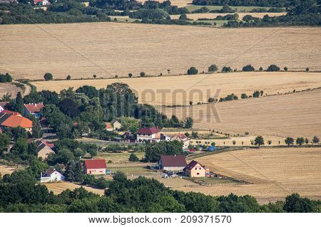A Village In The Czechs, In The Afternoon