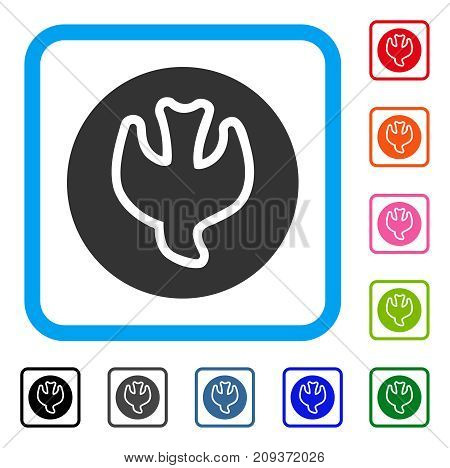 Falling Soul icon. Flat grey iconic symbol in a light blue rounded square. Black, gray, green, blue, red, orange color additional versions of Falling Soul vector.