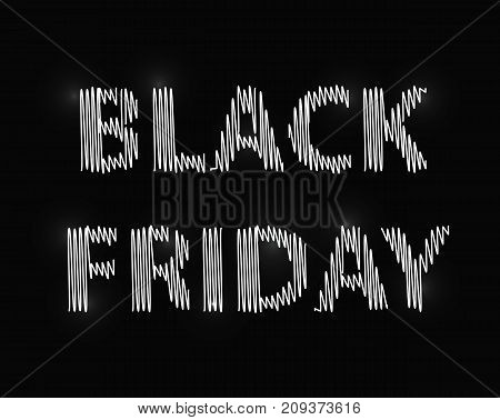 Black Friday. White inscription on a black background. Vector illustration