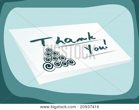 abstract background thank you card illustration