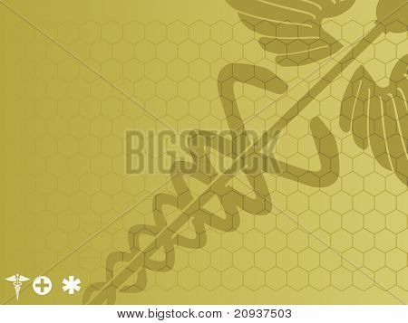 abstract pattern medical background with sign illustration