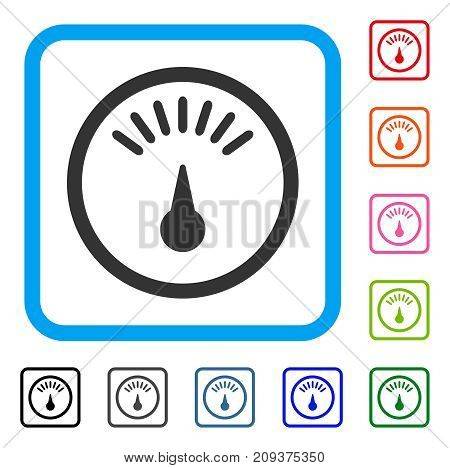 Meter Icon Flat Gray Vector Photo Free Trial Bigstock