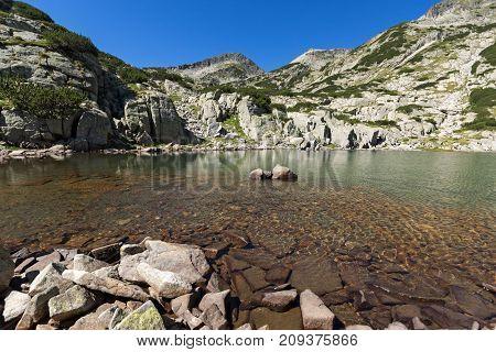 Amazing Landscape with Left Kralev Dvor pass and Samodivski lakes, Pirin Mountain, Bulgaria