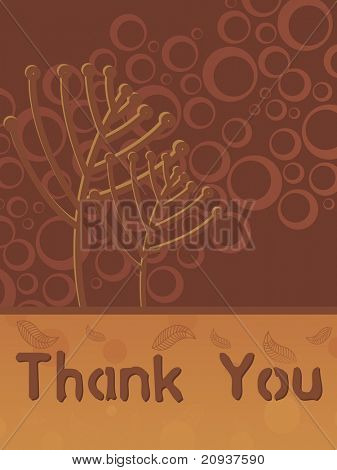 brown abstract background with thank you text