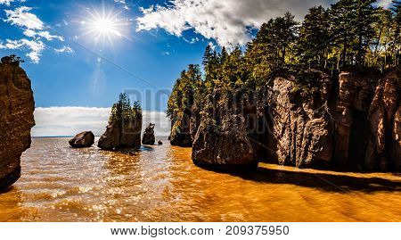 The Hopewell Rocks in New Brunswick, Canada