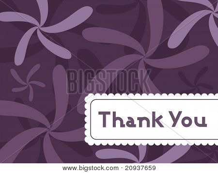 abstract floral background with thank you text