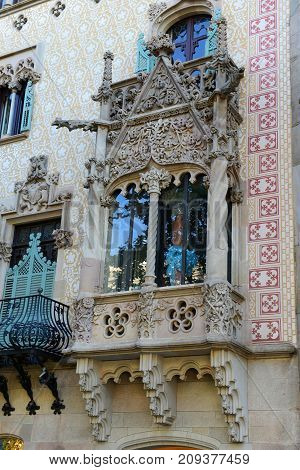 Casa Amatller is an Modernism masterpiece by architect Josep Puig i Cadafalch at Eixample District in Barcelona, Catalonia, Spain