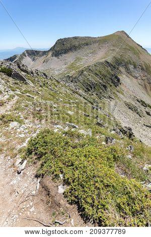 Amazing Landscape of Kadiev rid peak from Dzhano peak, Pirin Mountain, Bulgaria