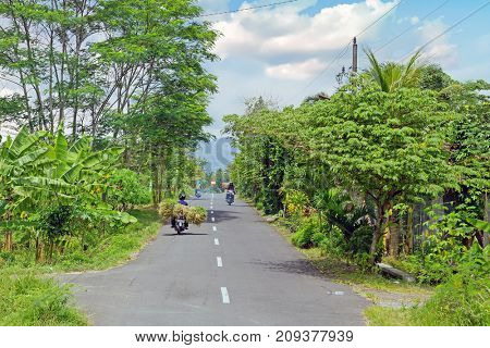 Driving in the countryside from Lombok in Indonesia Asia