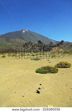 Pico del Teide a volcano in Tenerife Canary ids.