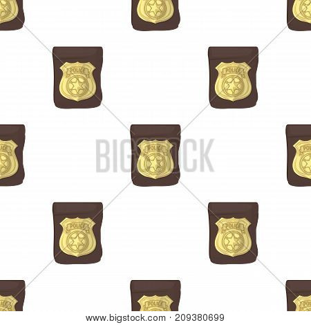 A badge, a police badge. Detective and police single icon in cartoon style vector symbol stock illustration .