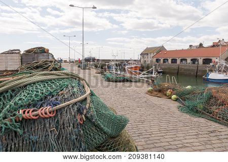 Lobster Pots At Crail, Small Village In Scotland