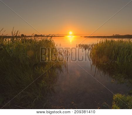 Dawn In The Bay On The Shore