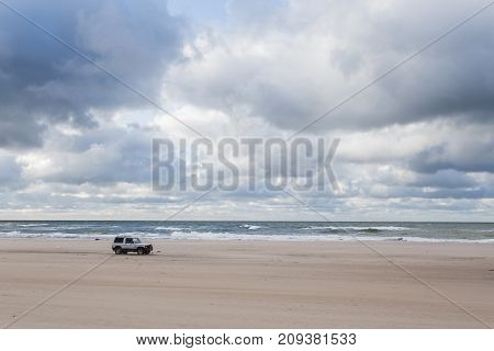 Waves On The Beach Of The Baltic Sea