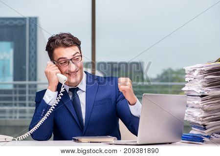 Angry call center employee yelling at customer