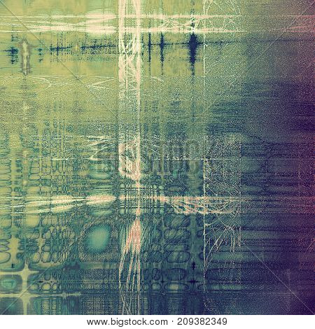 Aging grunge texture designed as abstract old background. With different color patterns