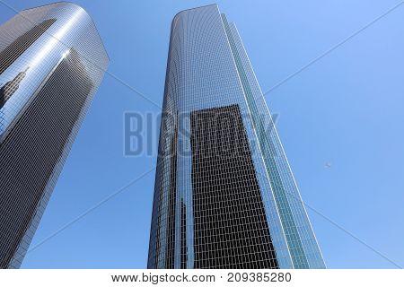 Big Skyscraper in Los Angeles. California. USA