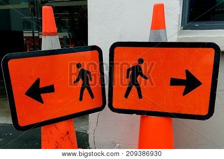 Man Walk Sign Going The Opposite Way