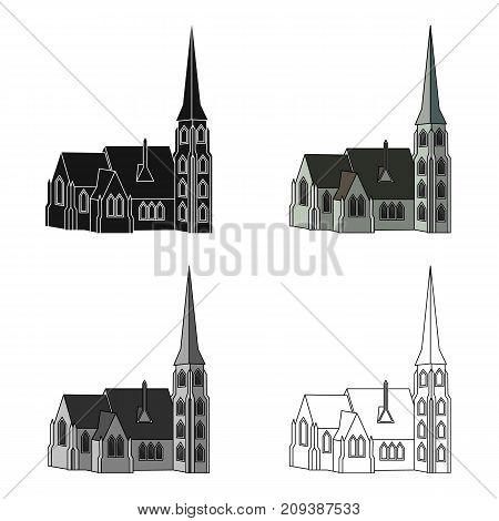 Building, single icon in cartoon style.Building, vector symbol stock illustration .