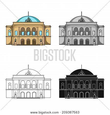 Building, single icon in cartoon style.Building vector symbol stock illustration .