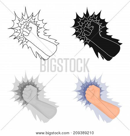 Hand, single icon in cartoon style.Hand, vector symbol stock illustration .