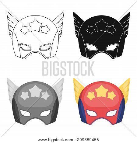 Helmet, single icon in cartoon style.Helmet, vector symbol stock illustration .