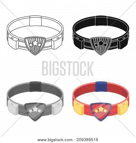 Belt, single icon in cartoon style.Belt, vector symbol stock illustration .