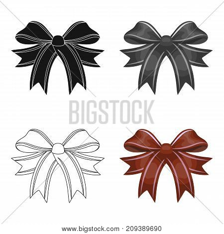 Node, ornamentals, frippery, and other  icon in cartoon style.Bow ribbon decoration