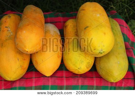 ripe papaya is delicious in the market