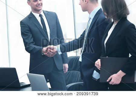 professional business people shaking hands