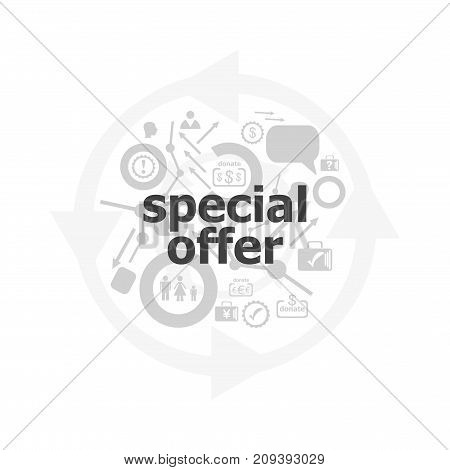 Text Special Offer On Digital Background. Business Concept