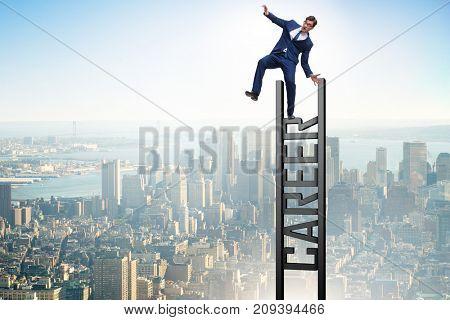 Businessman failing in his career