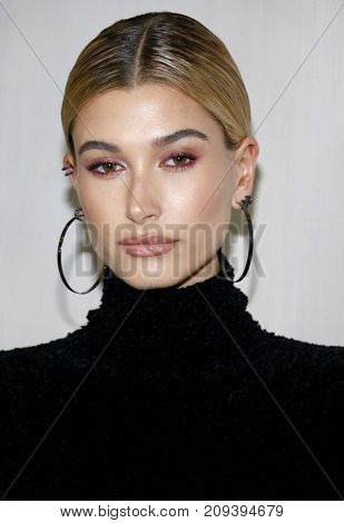 Hailey Baldwin at the Hammer Museum Gala In The Garden held at the Hammer Museum in Westwood, USA on October 14, 2017.