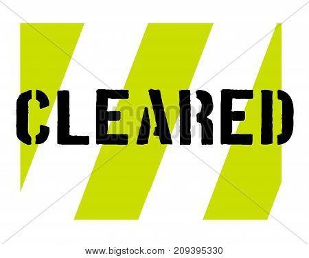 Cleared sticker. Authentic design graphic stamp. Original series