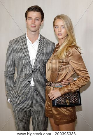 Patrick Schwarzenegger and Abby Champion at the Hammer Museum Gala In The Garden held at the Hammer Museum in Westwood, USA on October 14, 2017.