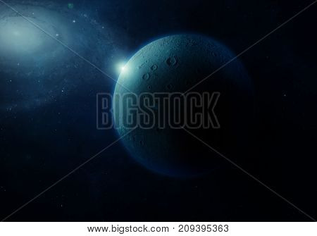 3d rendering: Alien planet and stars from the space