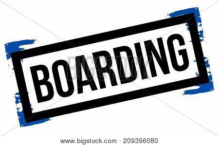 Boarding sticker. Authentic design graphic stamp. Original series