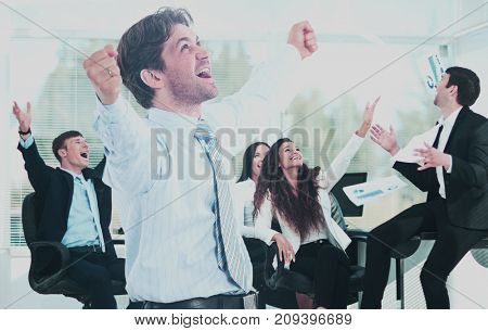 Portrait Of Happy Successful Business Group