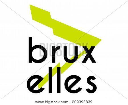 Bruxelles sticker. Authentic design graphic stamp. Original series