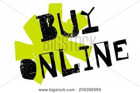 Buy online sticker. Authentic design graphic stamp. Original series