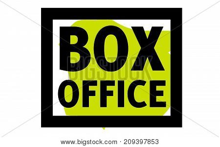 Box office sticker. Authentic design graphic stamp. Original series