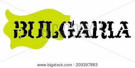 Bulgaria sticker. Authentic design graphic stamp. Original series