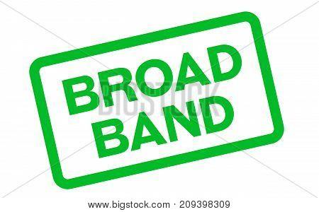 Broadband sticker. Authentic design graphic stamp. Original series