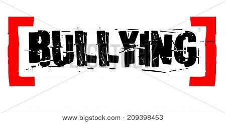 Bullying sticker. Authentic design graphic stamp. Original series