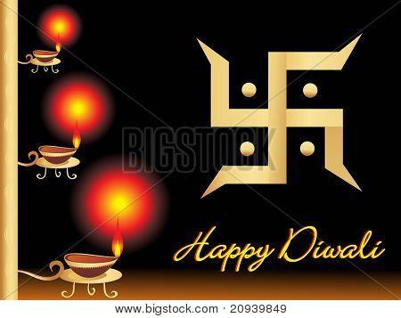 vector illustration for happy diwali poster