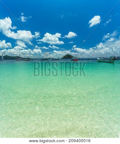 Paradise Island In Thailand, White Sand And Clear Water